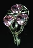 Набор: серьги, кулон, розовый камень, фото №7