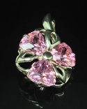 Набор: серьги, кулон, розовый камень, фото №8