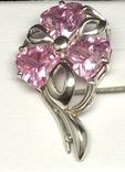 Набор: серьги, кулон, розовый камень, фото №10