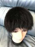 Вязаная шапочка из меха песца - 1