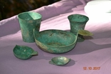 Стариний комплект, срібної посуди з гербом photo 2