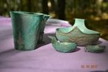 Стариний комплект, срібної посуди з гербом photo 4