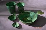 Стариний комплект, срібної посуди з гербом photo 5