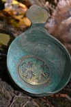 Стариний комплект, срібної посуди з гербом photo 10