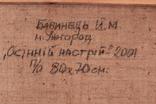 Зас.худ.Укр.Бабинец Й. раз.70х80см.х.м. 2001г. Закарпатская школа, фото №4