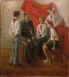 """Картина Баленко """"Встреча с пионерами"""", фото №2"""