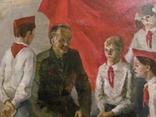 """Картина Баленко """"Встреча с пионерами"""", фото №3"""