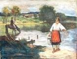 """Картина """"Девушка с ведром"""", фото №2"""