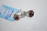 Новые серебряные серьги с золотыми накладкими, фото №6