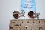 Новые серебряные серьги с золотыми накладкими, фото №8