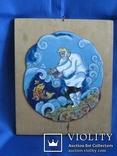 Перегородчатая эмаль. Старик и рыбка. Русский сувенир. Москва., фото №2