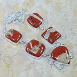 Ожерелье с натуральной яшмой, фото №2