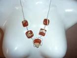 Ожерелье с натуральной яшмой, фото №3