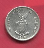 Филиппины 20 сентаво 1938 серебро
