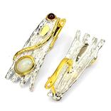 Дизайнерские серьги с натуральными крупными опалами, фото №2