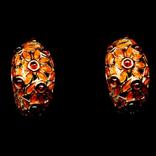 Серьги с гранатами и эмалью, фото №2