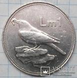 Мальта 1 лира 1986, фото №3