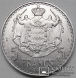 Монако 5 франков 1945, фото №2