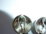 Серьги с эмалью и марказитами, фото №4