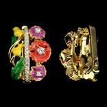 Серьги с цветной эмалью, фото №3