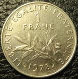 1 франк Франція 1978, фото №2