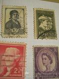 Старые почтовые марки СССР, США, Германии и пр. 10 шт., фото №9