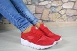 2660 Кроссовки Хуарачи, цвет- красный, Натуральная замша 40 размер 25,5 см стелька