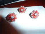 Гарнитур с алыми кораллами, фото №2
