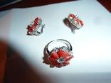 Гарнитур с алыми кораллами, фото №3