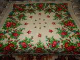 Платок большой с бахромой ссср шерсть 0148, фото №2