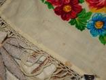 Платок большой с бахромой ссср шерсть 0148, фото №6