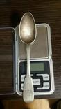 Чайная ложка из серебра 1880 г. 26.6 грамм