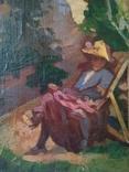 Старая картина. Человек в кресле. photo 6