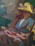 Старая картина. Человек в кресле. photo 9