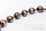 Венеційка Бусы венецианские (Венеційське намисто чорне), фото №4