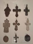 Коллекция: 7 старинных нательных крестов и 2 ладанки . photo 2