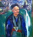 Холодноярський дід Пилип, полотно, акрил, 85Х75 см, 2008 рік