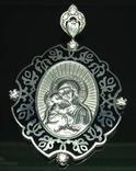 Кулон-ладанка, цирконы, эмаль, фото №2