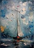 Рыбацкая лодка. И.Мовчан.