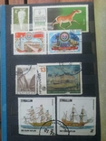 Старые марки со всего мира в альбоме photo 23