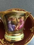 Парные кофейные чашки. Австрия. Ручная роспись., фото №4