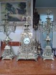 Часы с подсвечниками 19 век (Франция)