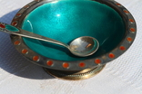 Серебрянный столовый набор с эмалью и чернью. photo 11