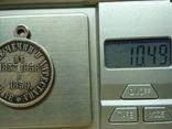 Медаль «За покорение Чечни и Дагестана» серебро 28 мм. photo 3