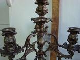Бронзовый подсвечник на 4 свечи с фигурой photo 2