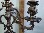 Бронзовый подсвечник на 4 свечи с фигурой photo 4