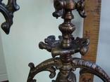 Бронзовый подсвечник на 4 свечи с фигурой photo 5