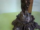 Бронзовый подсвечник на 4 свечи с фигурой photo 8