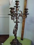Бронзовый подсвечник на 4 свечи с фигурой photo 11