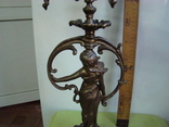 Бронзовый подсвечник на 4 свечи с фигурой photo 12